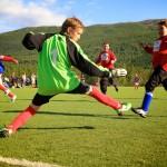 Liland IF kjemper på feil banehalvdel mot Mjølner 2 i klasse lillegutter 11 år. Kampen endte 0 - 5 til Mjølner. Foto: Robin Lund, Fotonaut.no