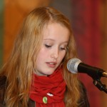 Anna Bartholsen Hagland holdt appell for Sosialistisk Ungdom. Foto: Robin Lund, fotonaut.no