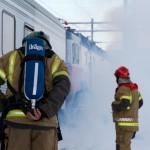 BJØRNFJELL, NARVIK, 3. NOVEMBER 2010 - Simulert togulykke. Bilde fra nasjonal beredskapsovelse «Tyr» på Bjørnfjell stasjon i Narvik kommune. Foto: Robin Lund, IMGS.no