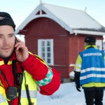 BJØRNFJELL, NARVIK, 3. NOVEMBER 2010 - Leder for ambulansetjenesten, John Otto Johansen. Bilde fra nasjonal beredskapsovelse «Tyr» på Bjørnfjell stasjon i Narvik kommune. Foto. Robin Lund, IMGS.no