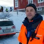 BJØRNFJELL, NARVIK, 3. NOVEMBER 2010 - FIG-leder for Sivilforsvaret i Narvik, Ståle Herving, kunne fortelle at Sivilforsvaret bidro med 18 personell i aksjonen og hadde blant annet som oppgave å ha samleplass for skadde. Bilde fra nasjonal beredskapsovelse «Tyr» på Bjørnfjell stasjon i Narvik kommune. Foto: Robin Lund, IMGS.no