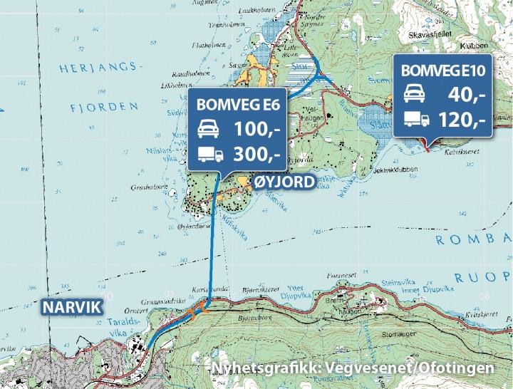 statens vegvesen kart Slik vil vegvesebomlegge Hålogalandsbrua – Ofoting statens vegvesen kart
