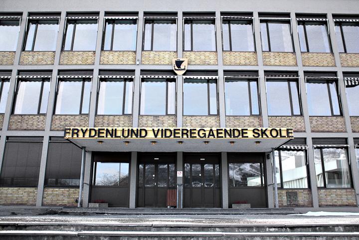 Stormen herjet med alarmsystemet på Frydenlund vgs. Arkivfoto: Robin Lund