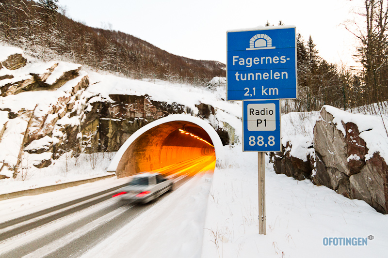 Fagernestunnelen i Narvik. Arkivfoto: Robin Lund .no