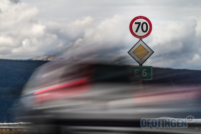Høy fart i 70-sone. Illustrasjonsfoto: Robin Lund .no