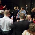NARVIK, 29. APRIL 2013 - Omsvermet Northug på næringskonferansen «Påfyll», gikk av stabelen på Folkets Hus. Petter Northug, PG Wettsjö og Eirik Frantzen var trekkplastre. (Foto: Robin Lund .no)