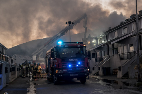 Brann i Taraldsvik