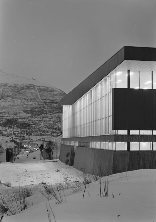 Fasade Ofotveien, Idrettens hus, Narvik