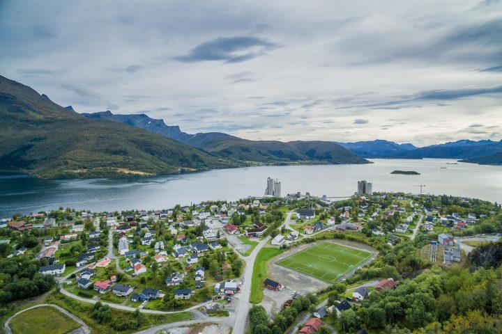 Luftfoto fra Tysfjord