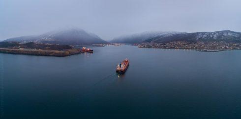 Weser Stahl in Narvik aerial