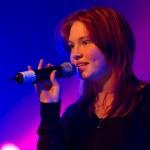 Frida Fredriksen (14 år) fremførte «Trouble is a friend». Foto: Robin Lund, Fotonaut.no