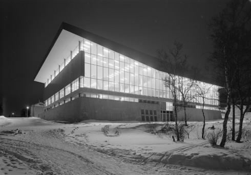Vinterfasade, Idrettens hus, Narvik